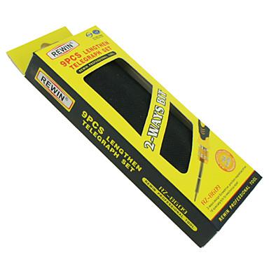 rewin® Werkzeug 9 Stück doiuble Kopf Präzision eletronic Schraubendrehersatz, Werkzeug-Set