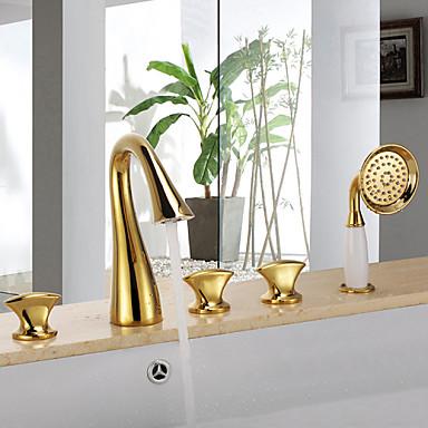 Badewannenarmaturen - Antike Ti-PVD Badewanne & Dusche Keramisches Ventil