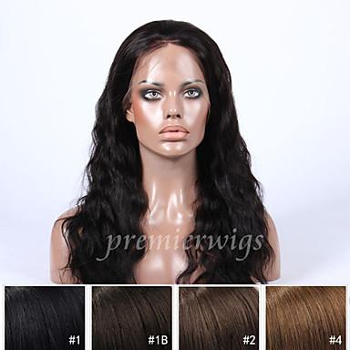 Ekte hår Helblonde Parykk Naturlige bølger Parykk 130% Hair Tetthet Naturlig hårlinje Afroamerikansk parykk 100 % håndknyttet Dame Kort Medium Lengde Lang Blondeparykker med menneskehår Premierwigs