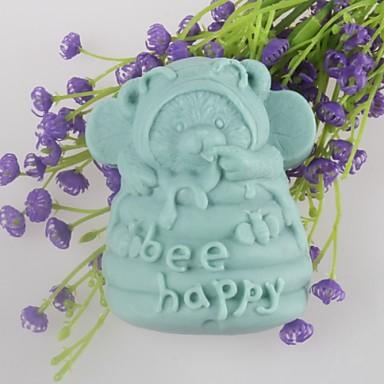 Bear w szczęśliwe Formy mydło w kształcie ciasto czekoladowe kremówki formy silikonowe formy, narzędzia do dekoracji pieczenia