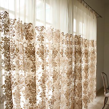 Tringle oeillets Onglet supérieur Plis double Deux Panneaux Le traitement de fenêtre Designer Rustique Moderne Néoclassique Rococo