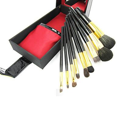 9pcs Professional Makeup Bürsten Bürsten-Satz- Sonstige Pinsel / Ziegenhaarbürste / Kunstfaser Pinsel Auge / 3 * Lidschattenpinsel / 1 *