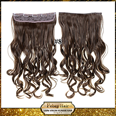 Sentetik Saç Ek saç Dalgalı Klasik Klipsli Günlük Yüksek kalite