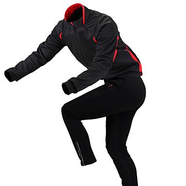 GETMOVING Jaqueta com Calça para Ciclismo Unisexo Manga Comprida MotoJaquetas em Velocino / Lã Camisa/Roupas Para Esporte Conjuntos de
