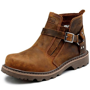 Men's Shoes Outdoor / Office & Career / Party & Evening / Athletic / Casual Leather Boots Brown