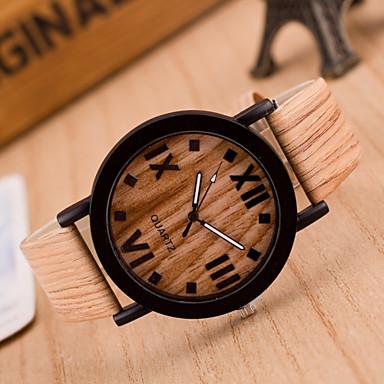 Мужской Наручные часы Кварцевый Кожа Группа Хаки