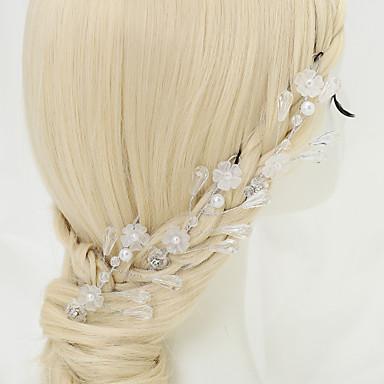 Cristal Imitation de perle Strass Alliage Épingle à cheveux 1 Mariage Occasion spéciale Casque