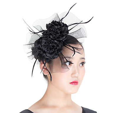 Feather Polyester Fascinators 1 Wedding Special Occasion Casual Outdoor Headpiece