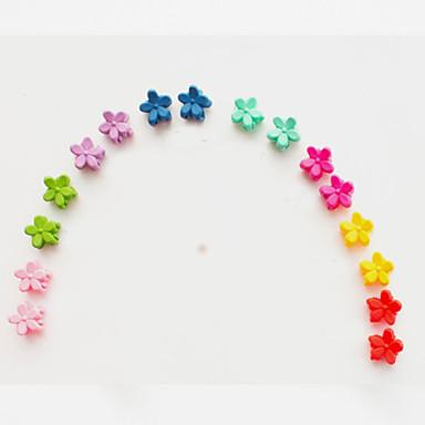 mini mały kwiat mały klip fryzura han edycja matowe dzieci huk mały pazur włosów ciemny mieszane 10 / grupa