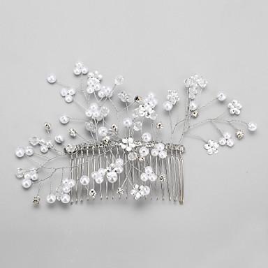 Απομίμηση Μαργαριταριού Στρας Κράμα Κομμάτια μαλλιών 1 Γάμου Ειδική Περίσταση Headpiece