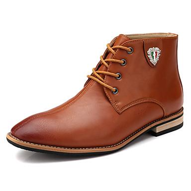 Miehet kengät Nahka Kevät Kesä Syksy Talvi Comfort Rullaluistelukengät Bootsit Nilkkurit Solmittavat Käyttötarkoitus Urheilullinen
