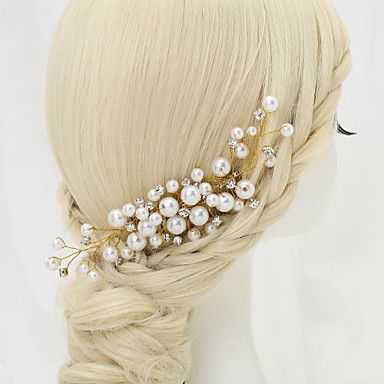 Imitation Pearl / Rhinestone / Alloy Hair Combs with 1 Wedding / Special Occasion / Birthday Headpiece