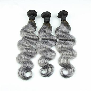 Cabelo Brasileiro Onda de Corpo Tramas de cabelo humano 3 Peças 0.1