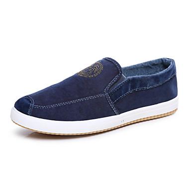 Homens sapatos Lona Primavera Verão Outono Conforto para Atlético Casual Escritório e Carreira Azul Escuro Cinzento Amêndoa