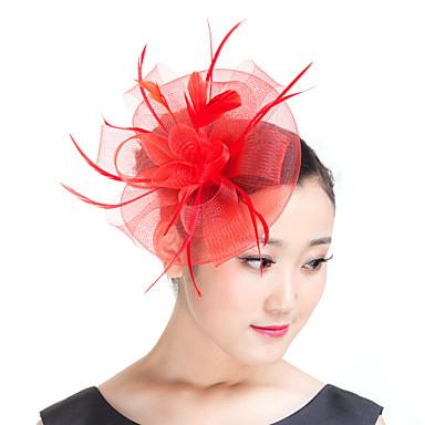 φτερό πολυεστέρα φτερών headpiece κλασικό θηλυκό στυλ