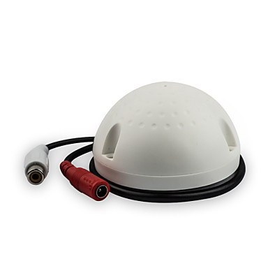 Diğer Aksesuarlar DearRoad CCTV High Sensitivity Low Noise Ceiling Mount Audio Pickup 12V DC için Güvenlik Sistemler 9*7*6cm 0.055kg