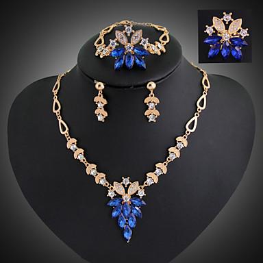Γυναικεία Σετ Κοσμημάτων Κρεμαστά Σκουλαρίκια Κρεμαστά Κολιέ Κοσμήματα με στυλ Πεπαλαιωμένο Ευρωπαϊκό Συνθετικοί πολύτιμοι λίθοι Cubic
