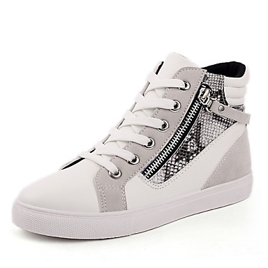 Women's Shoes Flat Heel Comfort / Novelty / Round Toe Fashion Sneakers Office & Career / Athletic / Casual Black / Gray