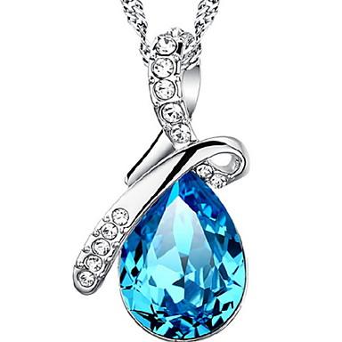 Damen Vintage Halskette - Sterling Silber Tropfen Modisch Marineblau Modische Halsketten Schmuck Für Alltag, Normal, Sport