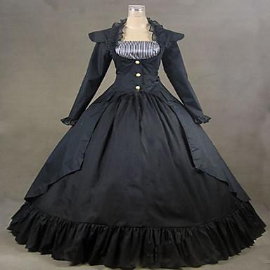 Готика Steampunk® Викторианский стиль Кружево Жен. Платья Косплей Длинный рукав Длинный