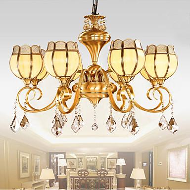 11 15 contemporain cristal laiton antique m tal lustre - Lustre salle a manger contemporain ...