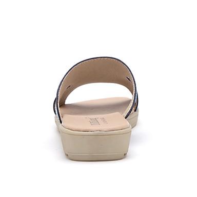 para Amarillo Confort Blanco Mujer Tacón Cuero Azul Plano 04261550 Zapatos Verano 8wq8FYR1