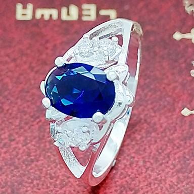 Gyűrűk Esküvő / Parti / Napi / Hétköznapi Ékszerek Ezüstözött Női Vallomás gyűrűk 1db,8 Ezüst