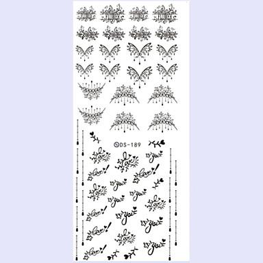3D Nail Stickers - Muuta - Kukka / Abstrakti - Sormi - 16X7X0.1 - 1
