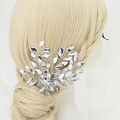Strassz Ötvözet Hair Clip 1 Esküvő Különleges alkalom Születésnap Party / estély Sisak