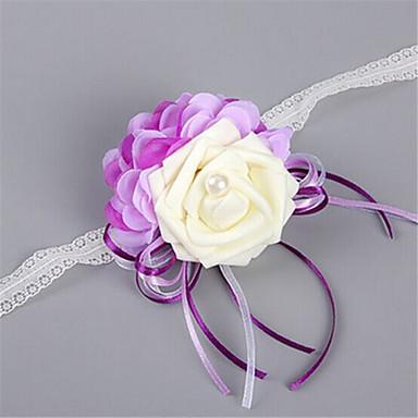 Kwiaty ślubne Korszarz na rękę Ślub Party / Wieczór Satyna elastyczna