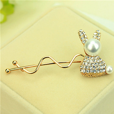 South Korea Set Auger Bowknot Hairpin Sell Like Hot Cakes Golden Rabbit Model
