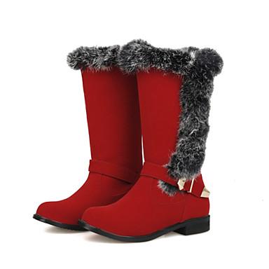 Støvler-Kunstlæder-Snowboots Modestøvler-Dame-Sort Brun Grøn Rød-Udendørs Kontor Fritid-Tyk hæl