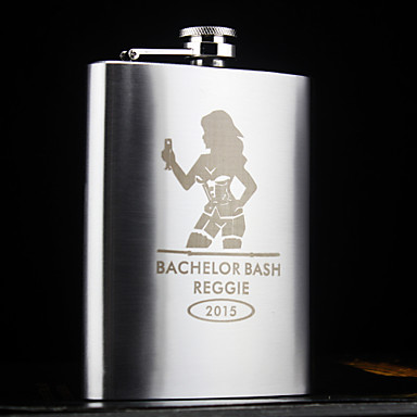 Stainless Steel Hip Flasks Groom Groomsman Parents Baby & Kids Wedding Anniversary Birthday Congratulations Graduation Thank You Business