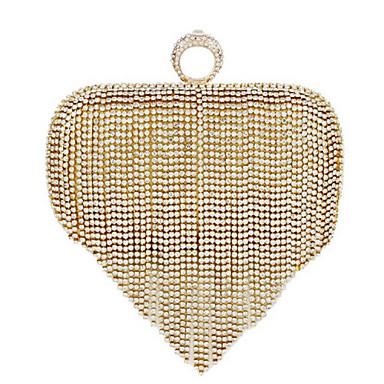 Damen Taschen PU Abendtasche / Zweifach gefaltet Perle für Normal Gold / Silber