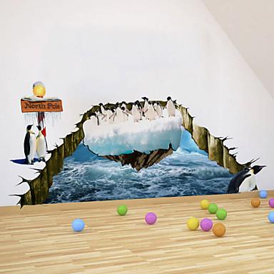 3D-Aufkleber Arctic Penguin PVC-Wandaufkleber Wandtattoos