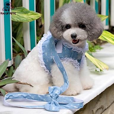 Σκύλος Εξαρτύσεις Λουριά Προσαρμόσιμη / Τηλεσκοπικό Στολές Ηρώων Νάιλον Ντένιμ Μπλε