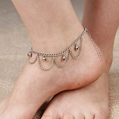 Women's Anklet / Bracelet Alloy Tassel Vintage Cute Party Work Casual Multi Layer Anklet Jewelry For Daily