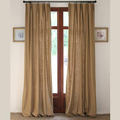 Stanglomme Propp Topp Fane Top Dobbelt Plissert To paneler Window Treatment Moderne Designer Europeisk Neoklassisk Land, Trykk Ensfarget