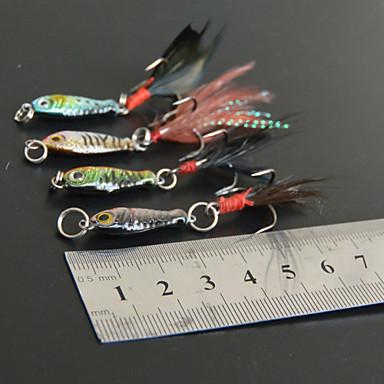 8 pcs Hard Bait Fishing Lures Hard Bait Jigs Metal Bait Pencil g / Ounce mm / 2-1/4
