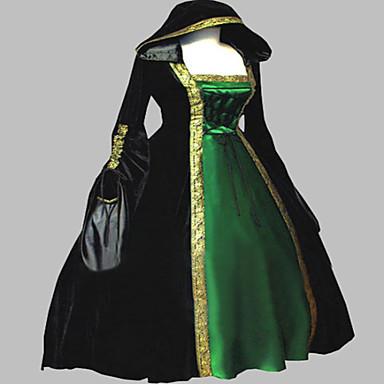 Γοτθική Λολίτα Steampunk® Victorian Σατέν Γυναικεία Φορέματα Cosplay Μακρυμάνικο Μακρύ Μήκος