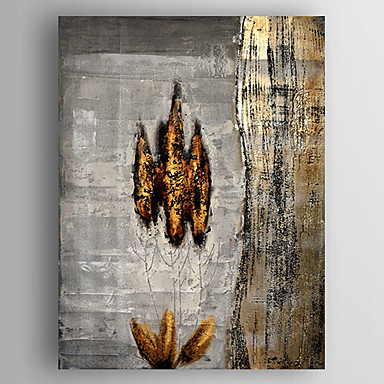 Hang malte oljemaleri Håndmalte - Abstrakt Moderne Lerret / Stretched Canvas