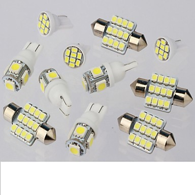 SO.K 11 erilaista Auto Lamput 1W 50lm 11 sisävalot
