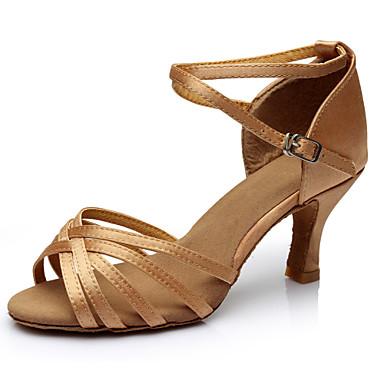 Kadın Latince Balo İpek Sandaletler Spor Ayakkabı Egzersiz Yeni Başlayan Profesyonel İç Mekan Performans Toka Kurdele Kravat Kişiye Özel
