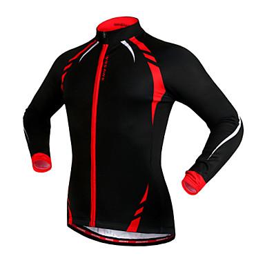 WOSAWE Unisex Fahrradjacke Fahhrad Trikot / Radtrikot / Jacke / Oberteile warm halten, Windundurchlässig, Fleece Innenfutter Patchwork