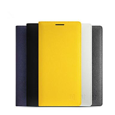 Etui Käyttötarkoitus OnePlus One Plus 2 Korttikotelo / AutomAutomaattinen auki / kiinni / Flip Suojakuori Yhtenäinen Kova PU-nahka