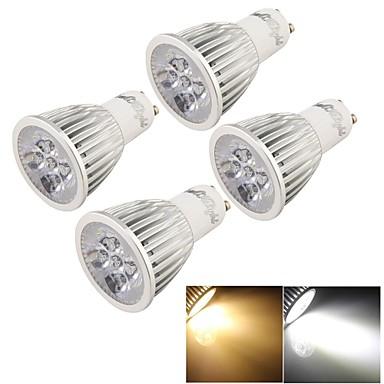 5W GU10 LED-kohdevalaisimet MR16 5 Teho-LED 500 lm Lämmin valkoinen / Kylmä valkoinen Koristeltu AC 85-265 V 4 kpl