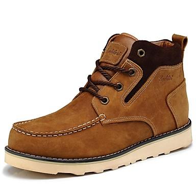Homens Sapatos Couro Inverno Primavera Verão Outono Botas Cowboy/Country Coturnos Sem Salto 20,32 a 25,4 cm Botas Curtas / Ankle para