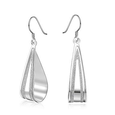 Damen Ohrstecker Klips Simple Style Sterling Silber Kupfer versilbert Silber Tropfen Schmuck Hochzeit Party Alltag Normal Modeschmuck