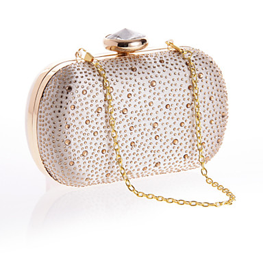 Women Bags Polyester Evening Bag Imitation Pearl Crystal/ Rhinestone for Wedding Event/Party Formal Office & Career All Seasons Gold