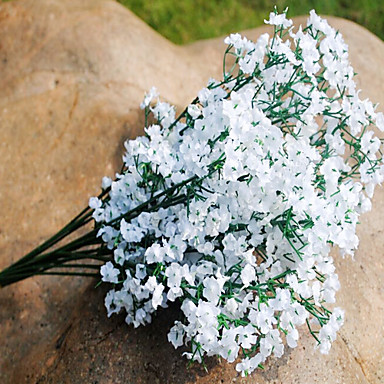 Artificial Flowers 1 Branch Pastoral Style Baby Breath Tabletop Flower